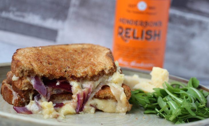 Yorkshire Cheddar, Red Onion & Hendersons Relish Toastie